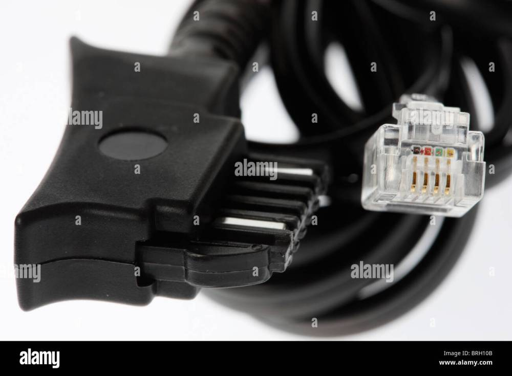 medium resolution of telephone connection cable for isdn fax and analog telephone lines