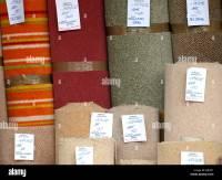 Carpet remnants for sale, Shop, UK Stock Photo, Royalty ...