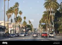 Sunset Boulevard Beverly Hills California Usa Stock