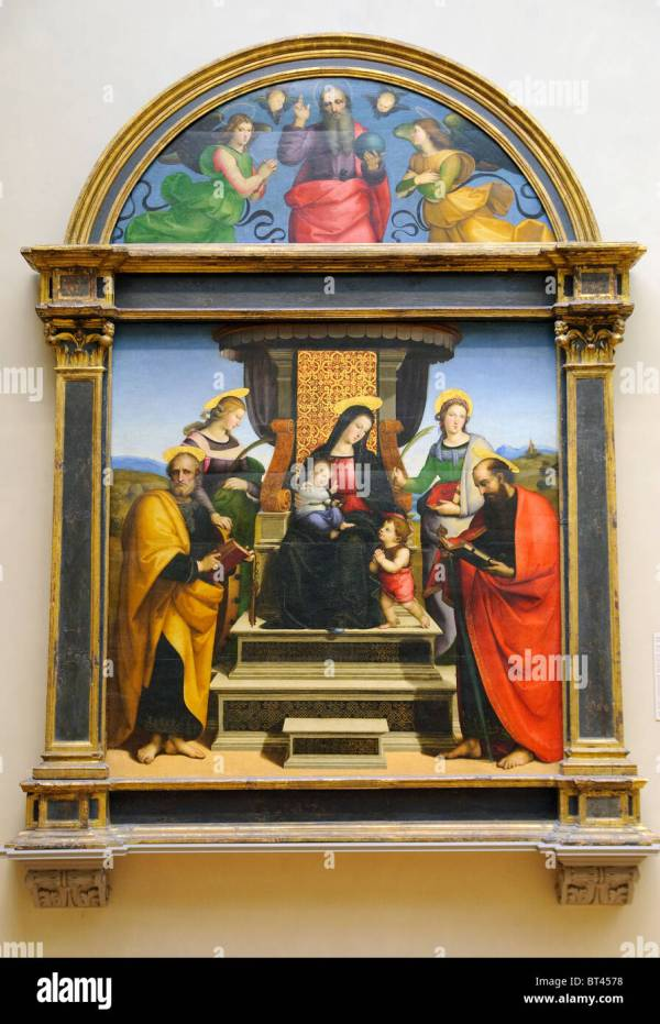 Madonna And Child Enthroned With Saints Ca. 1504