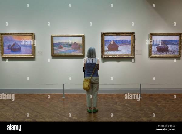 Monet' Stacks Of Wheat Haystacks Art