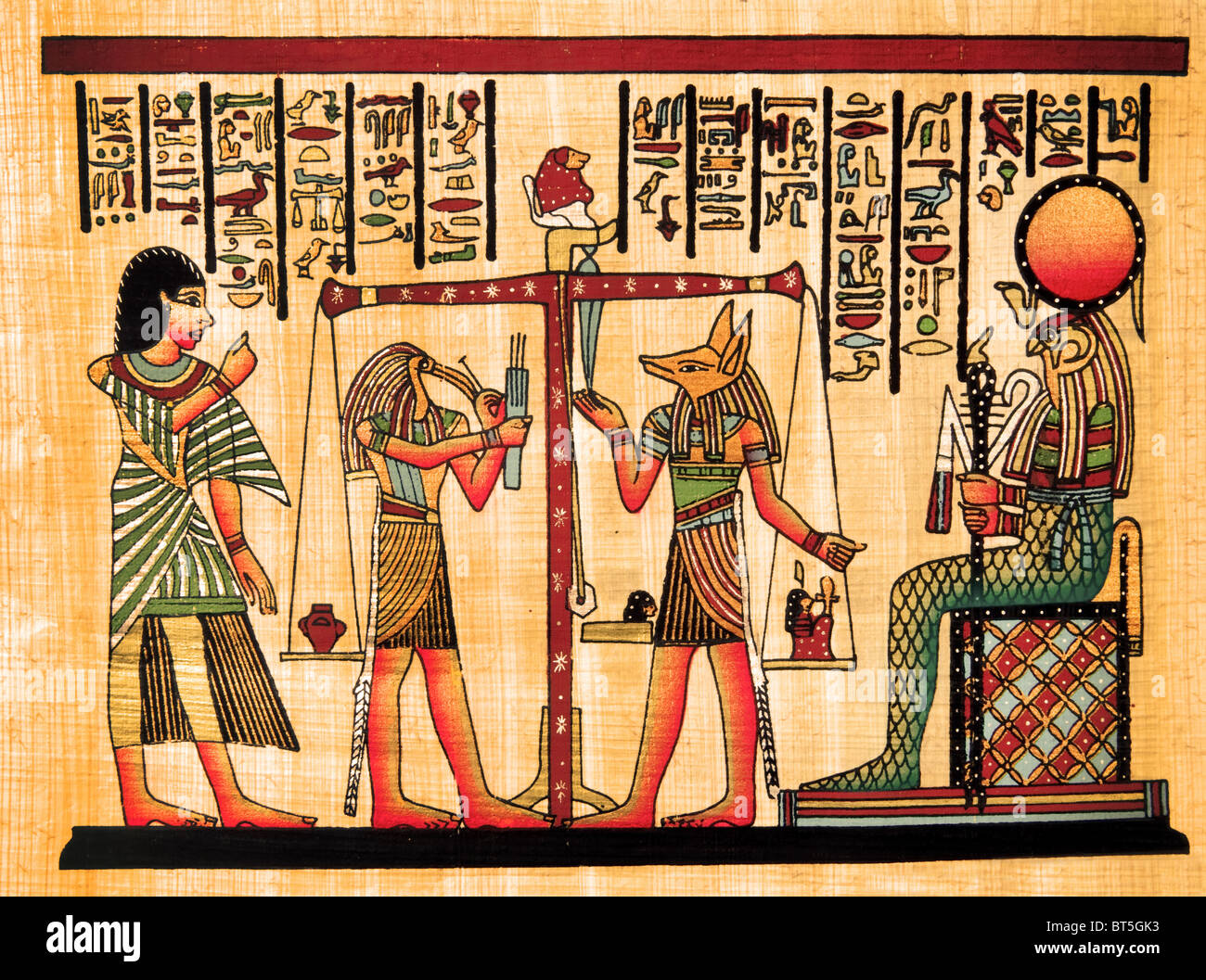 Egyptian Hieroglyphics And Papyrus Stock Photos Amp Egyptian