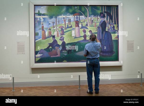 Sunday La Grande Jatte Georges Seurat Art Institute In Stock 32086024 - Alamy