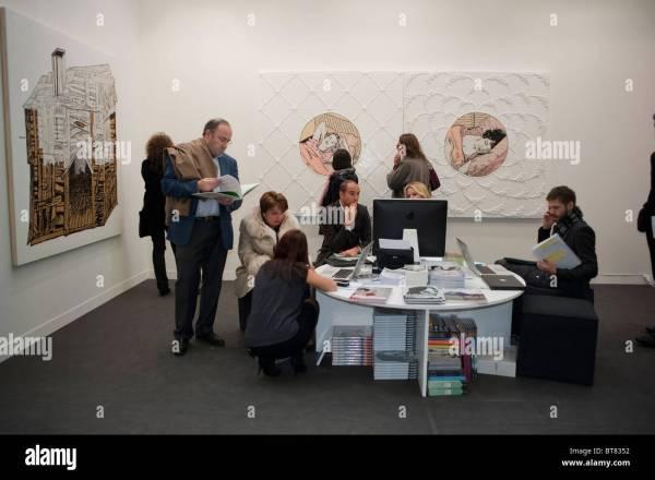 Paris France Contemporary Art Show Business People