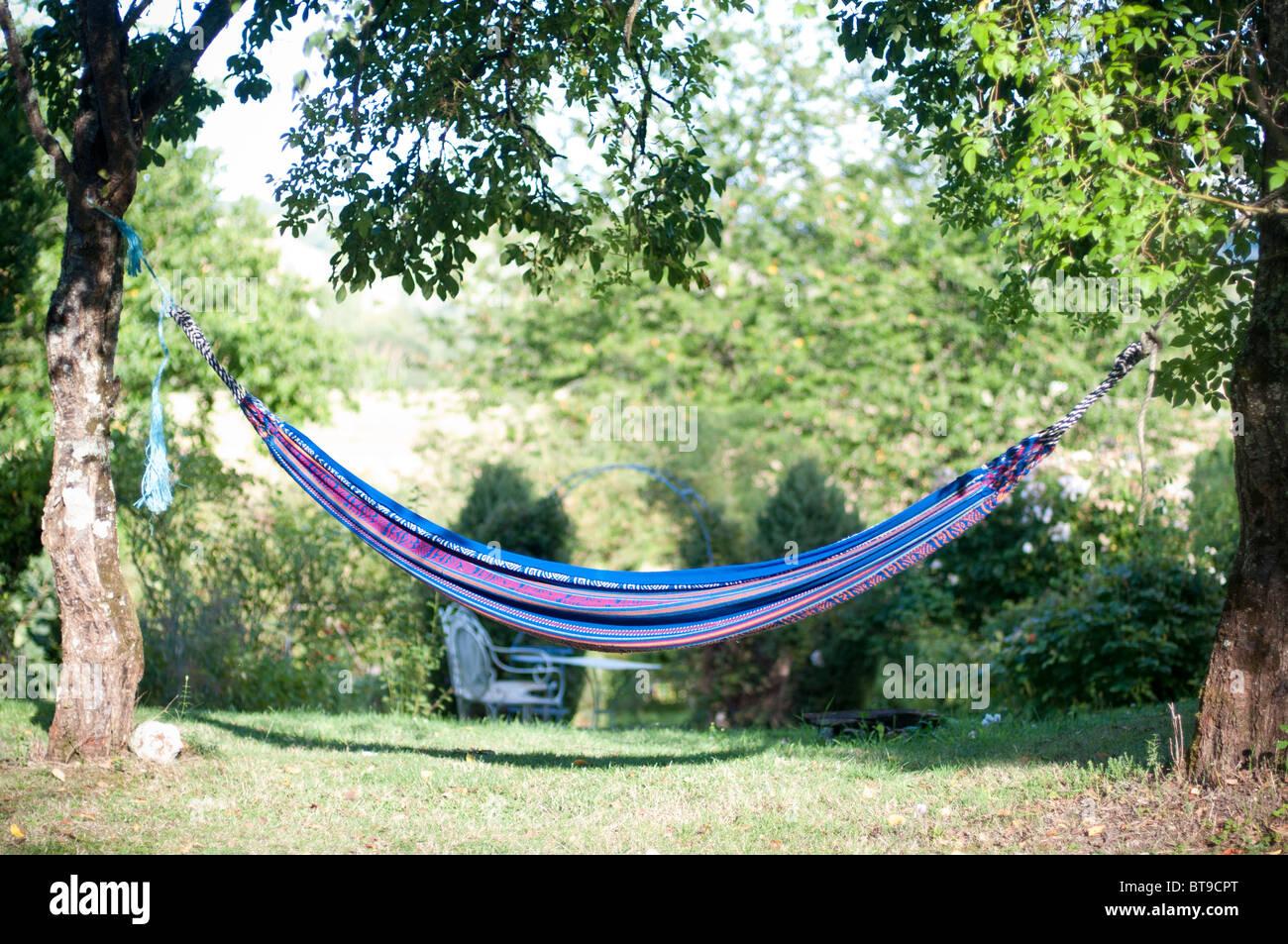 a hammock between two