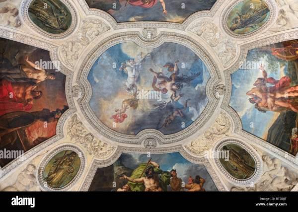 Ceiling Fresco Painting Louvre Museum Paris Stock Royalty Free 32248016 - Alamy