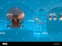 Ice Hotel Lobby Stock &