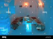 Ice Hotel Sorrisniva Igloo Alta Norway Stock