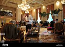 Waiter In Plaza Hotel Lobby Manhattan York Stock