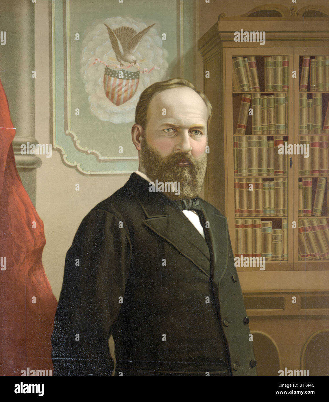 The Late President James A Garfield Color Lithograph Ca