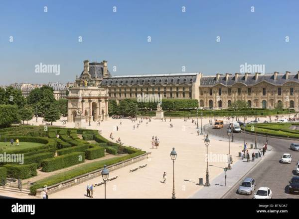 Louvre Courtyard Stock &