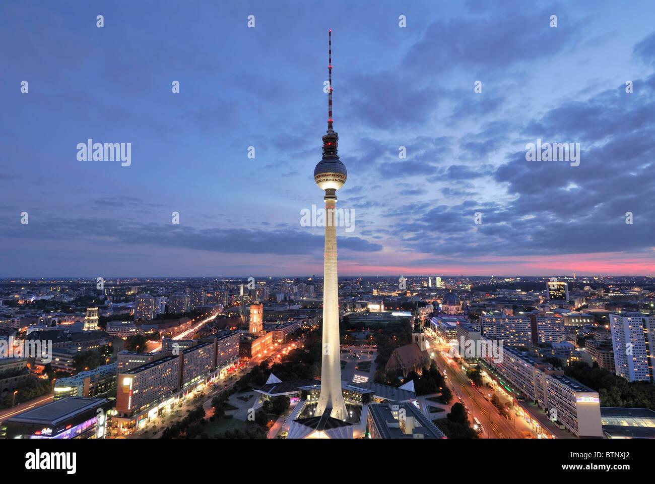 berlin germany dusk view
