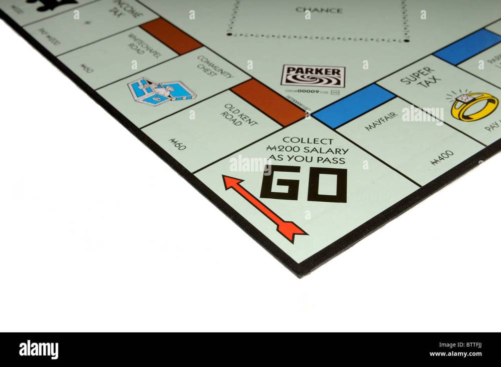 medium resolution of monopoly board go start of game