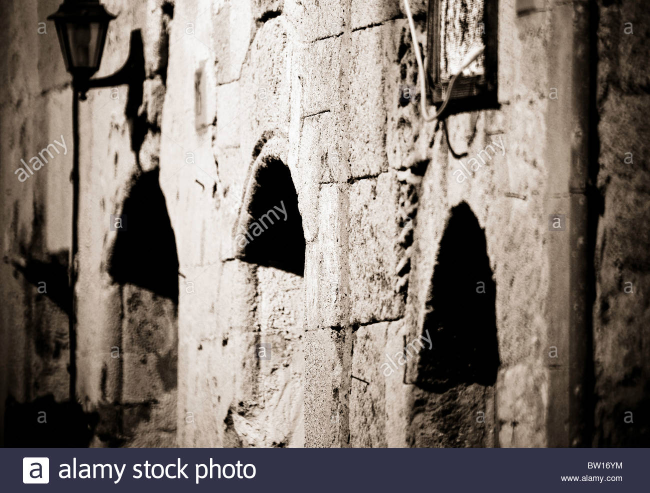 hight resolution of ancient greek stone building archeology greece rhodes castle old town greece stock image