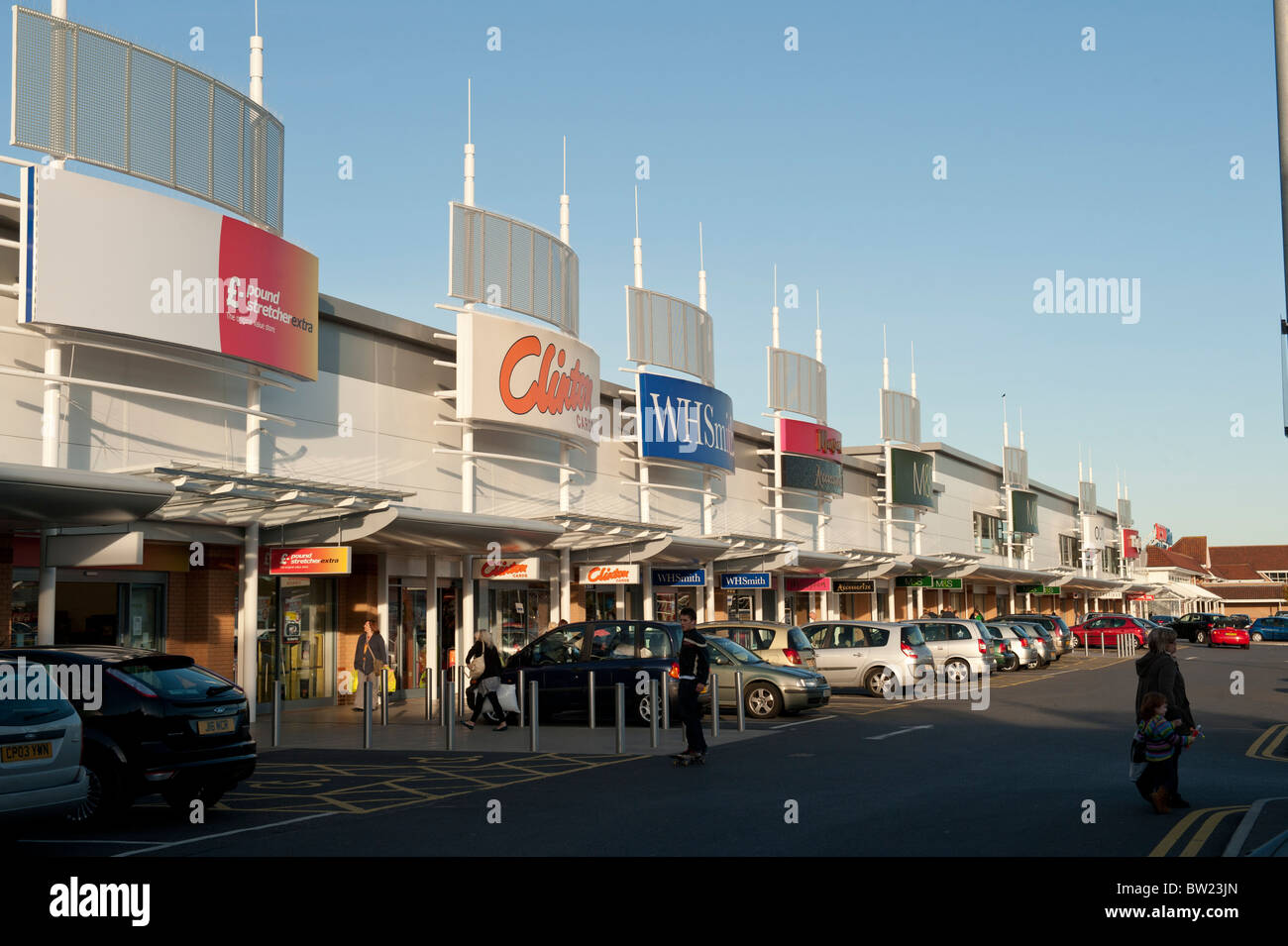 Trostre retail park out of town shopping mall Llanelli