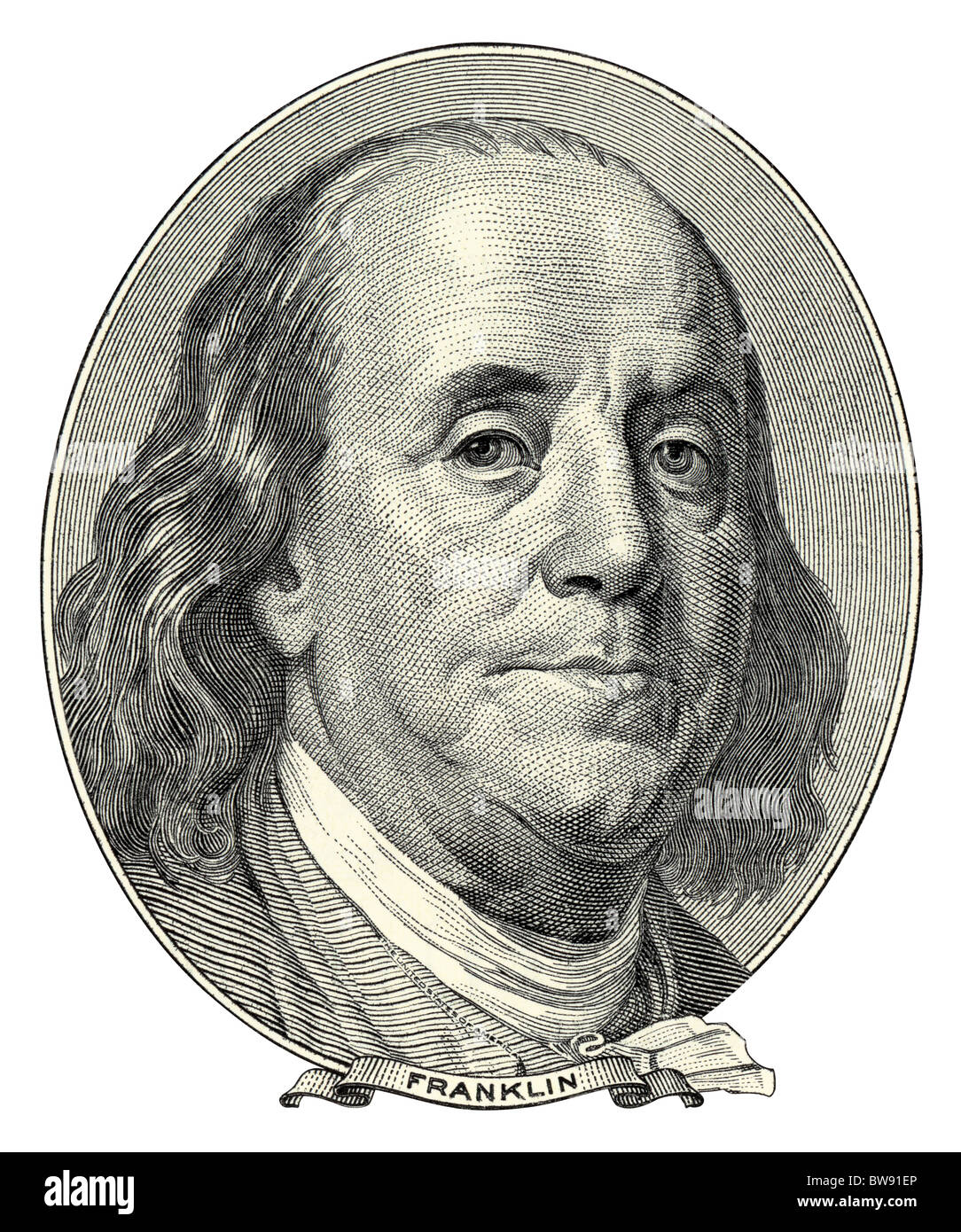 Portrait Of Benjamin Franklin As He Looks On One Hundred