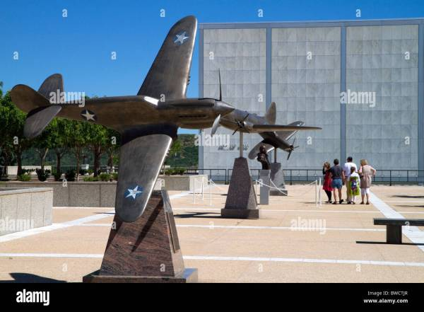 Bronze Sculptures Of Vintage Ww11 Aircraft Air Force Academy Stock Royalty Free