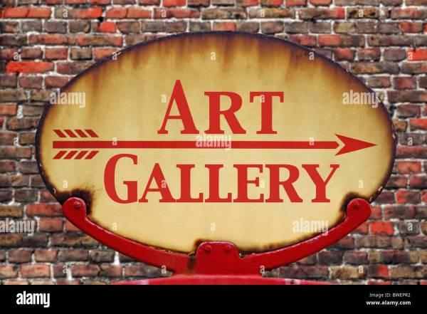 Art Sign Stock & - Alamy