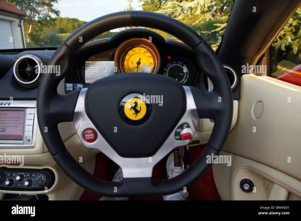 Ferrari Steering Wheel Stock & - Alamy