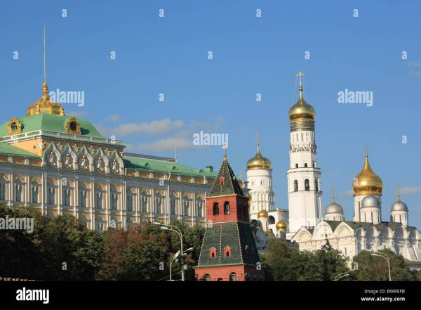 Moscow Russia Kremlin Moskva River Russian Architecture