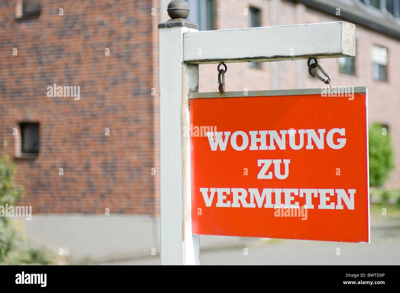 Wohnung zu vermieten Stock Photo Royalty Free Image