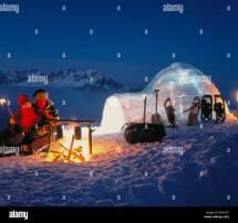 Adventure Alpine Graubunden Grisons Igloo Campfire