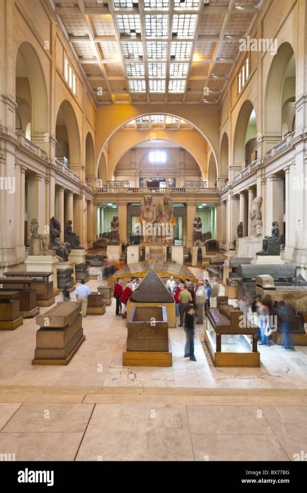 Egyptian Museum Interiors Stock &