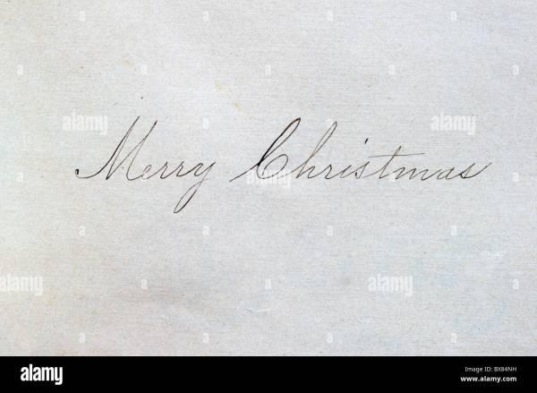 merry christmas written in cursive