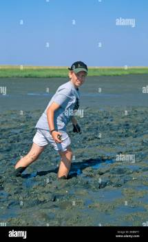 Young Boy Hiking Tour Mudflats St