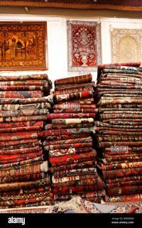 Carpet shop selling Persian carpets in Isfahan, Iran Stock ...