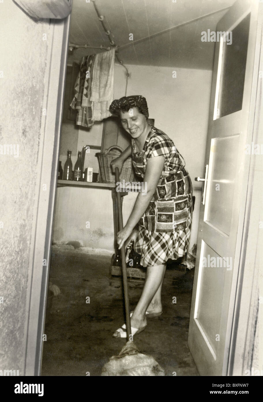 1950s Housewife Cleaning Stock Photos  1950s Housewife
