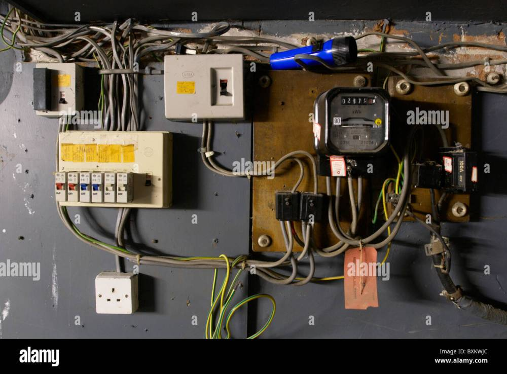 medium resolution of old electrical installation with switch box meter and fuse box stock maximum permissible distance between electric meter and fuse box meter and fuse box