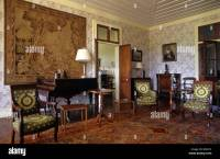 Salon, Living Room or Interior of Riche en Eau Colonial ...