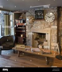Old cottage stone walls and two fireplaces exposed during ...