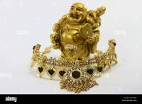 Golden Laughing Buddha Feng Shui Stock Photos & Golden