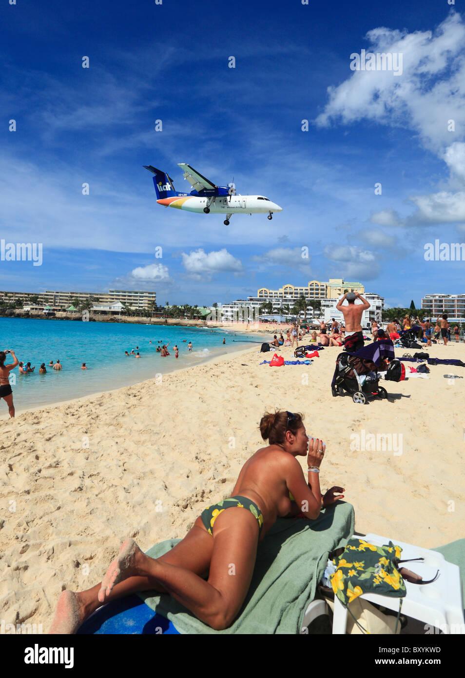 liat islander aircraft landing