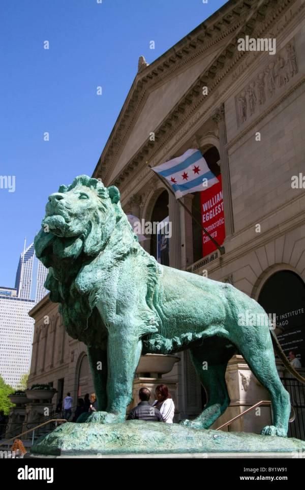 Chicago Art Institute Lion Statue