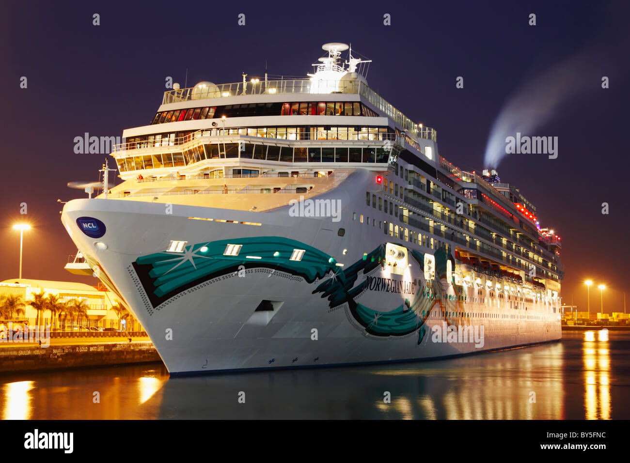 hight resolution of cruise ship norwegian jade in las palmas on gran canaria canary islands spain