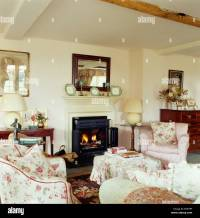 Country Living Rooms With Fireplaces