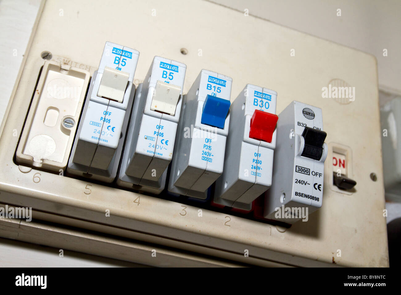 hight resolution of uk old electric fuse box in a london house stock photo 33998844 install 200 amp fuses in box electric fuse box