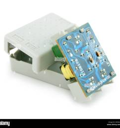 adsl splitter electric circuit isolated stock image [ 1300 x 1267 Pixel ]