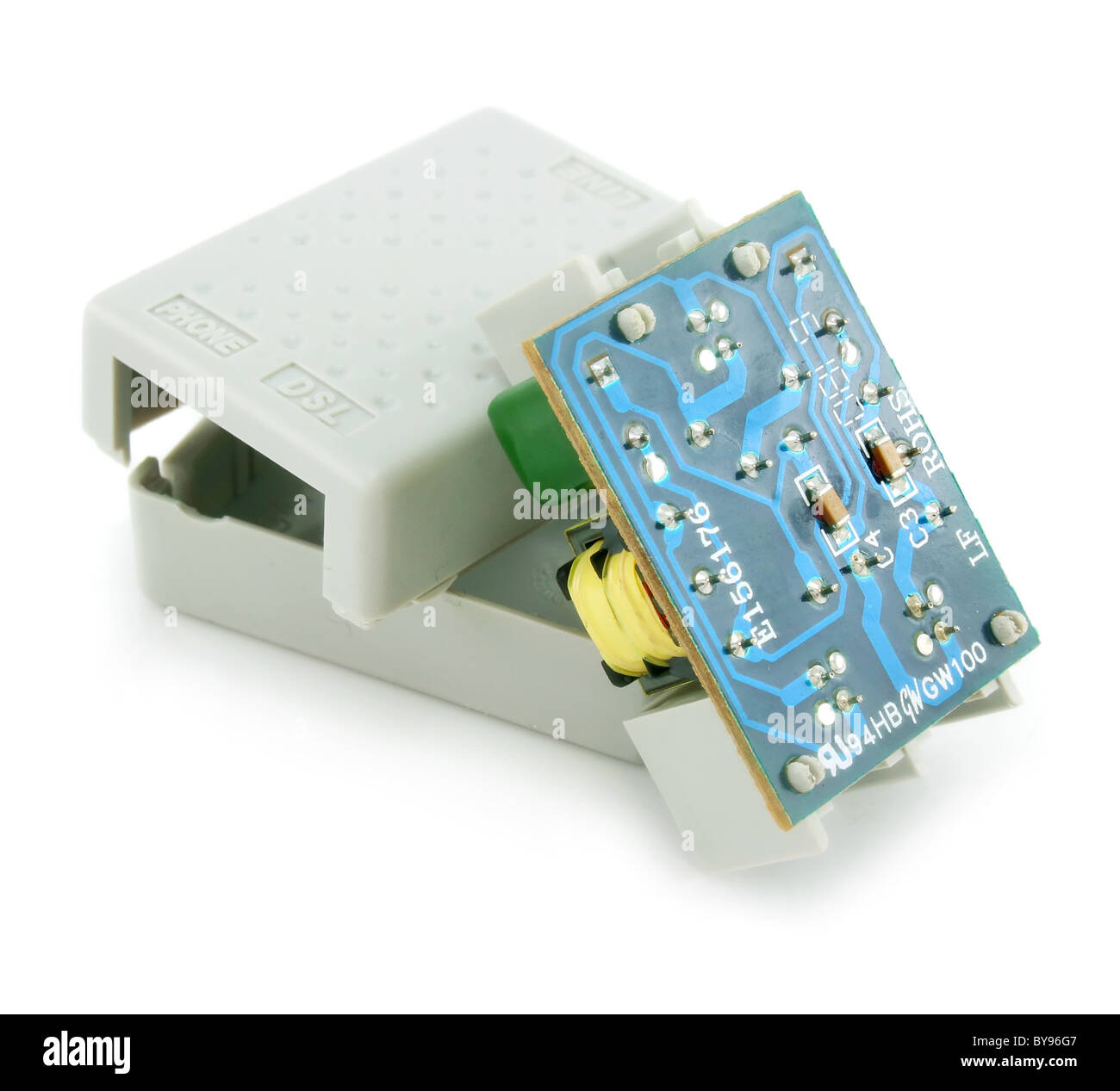 hight resolution of adsl splitter electric circuit isolated stock image