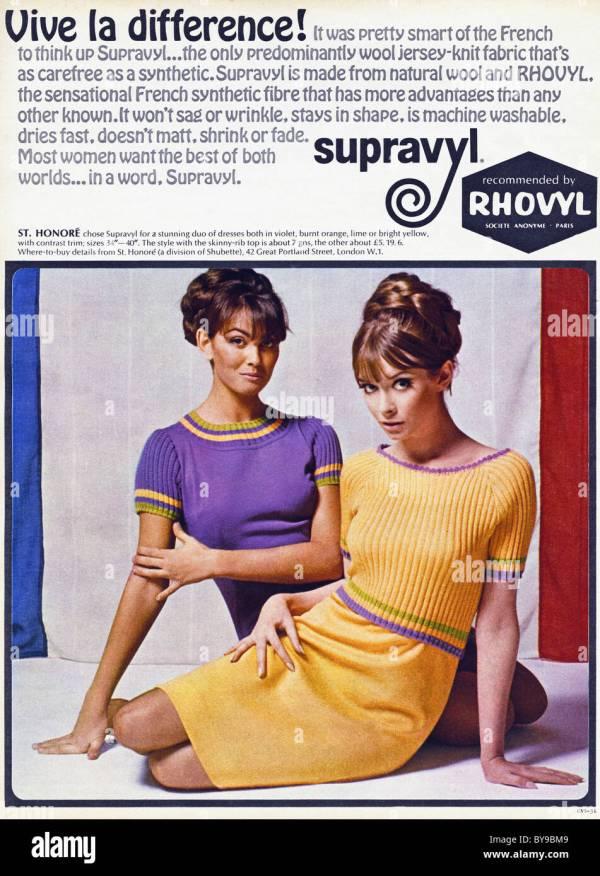 1960s Women Fashion Ad