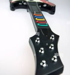 band hero guitar controller from the video game franchise guitar hero stock image [ 865 x 1390 Pixel ]