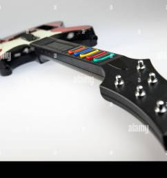 band hero guitar controller from the video game franchise guitar hero stock image [ 1300 x 955 Pixel ]