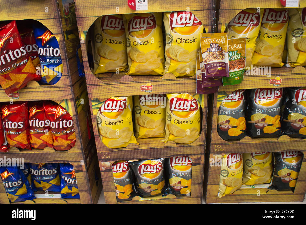 lays chips display stock
