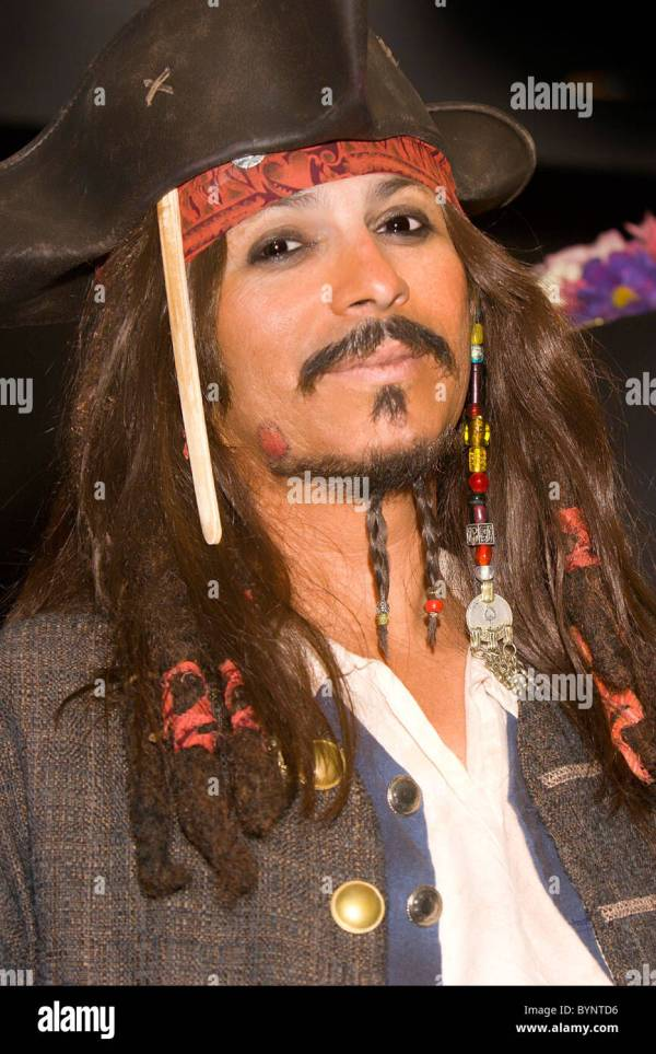Captain Jack Sparrow Johnny Depp Stock &