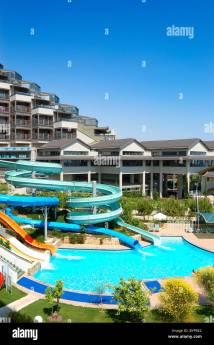 Waterpark Luxury Hotel Antalya Turkey Stock