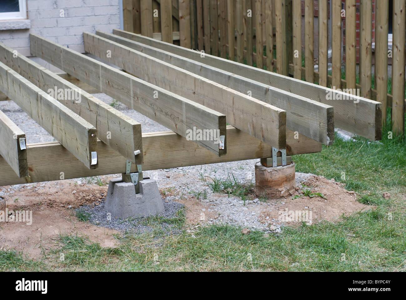Deck construction Stock Photo 34298571  Alamy