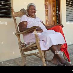 Old Lady Chair Eames Chairs Woman Rocking Stock Photos And